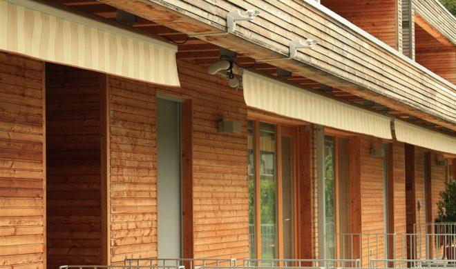 Case a schiera; Costruito in legno; efficienza energetica
