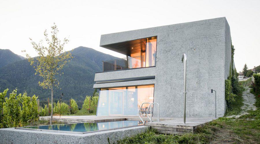 Villa; edificio monofamiliare; legno lamellare