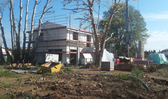 complesso residenziale; cantiere casa; casaclima cantiere
