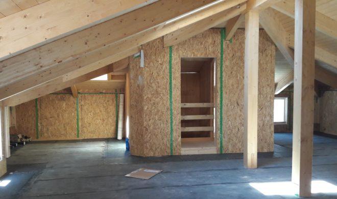 visita in cantiere; cantiere casaclima; cantiere costruzione legno