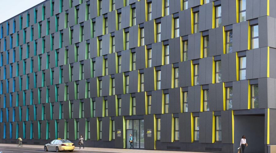 Holzrahmenbaufassade in München