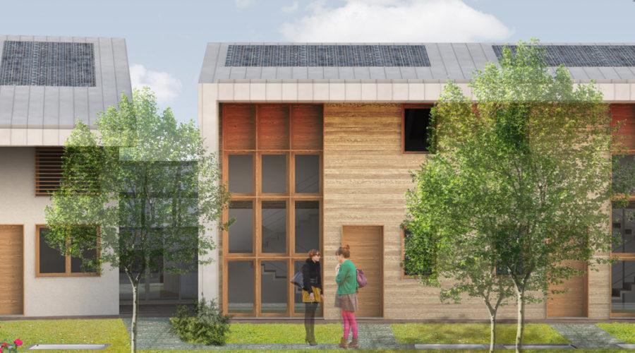 complesso residenziale; legno; abitazione multipiano legno
