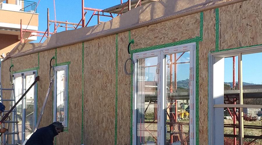 plurifamiliare edificio legno roma