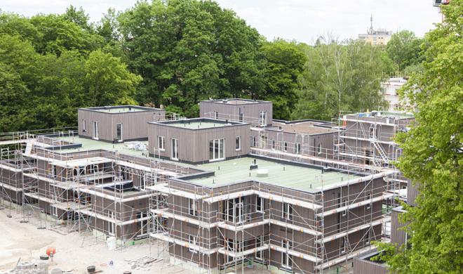 Holzbau München Baustelle