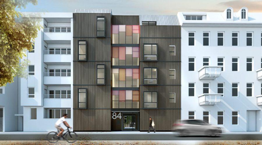 Bercahaus – fünf Stöcke aus Holz in Berlin