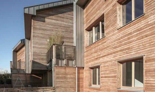 Il parco dei Gelsi - un'abitazione plurifamigliare a Bergamo realizzata in legno