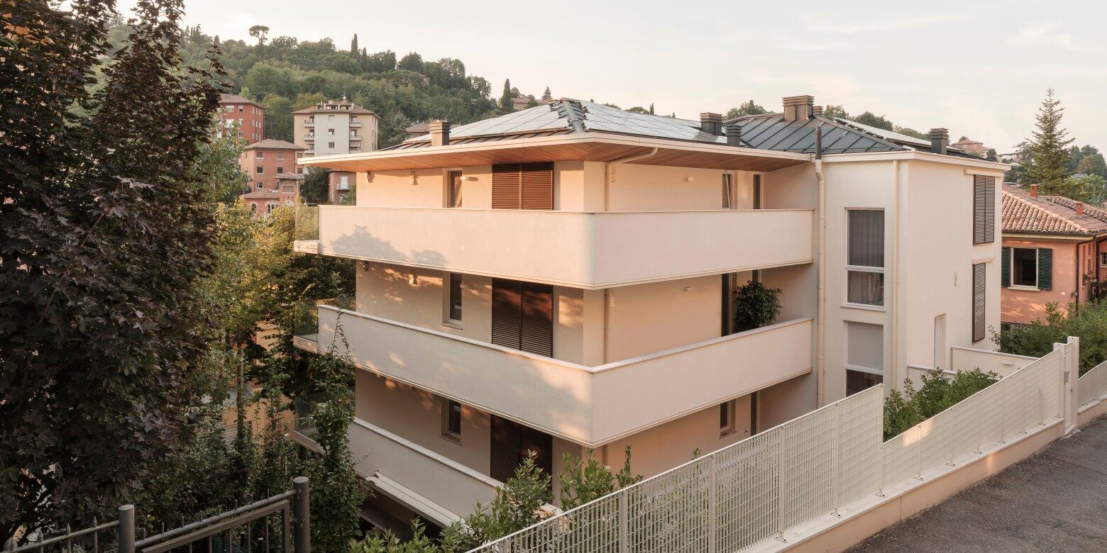 Edificio 5 piani in legno a Bologna
