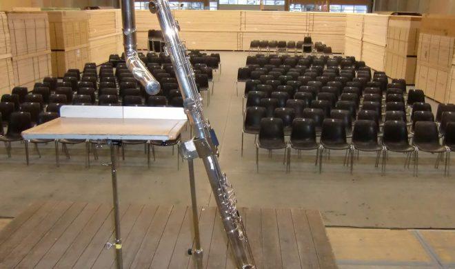 Il festival di cultura Transart ha trasformato il capannone in un auditorio