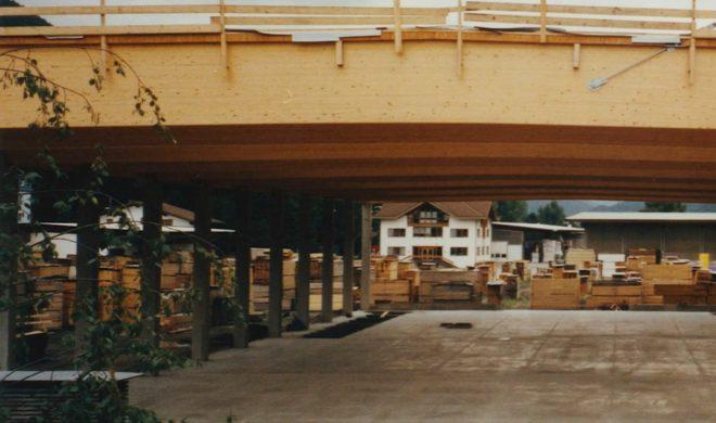 La costruzione del capannone nel 2008