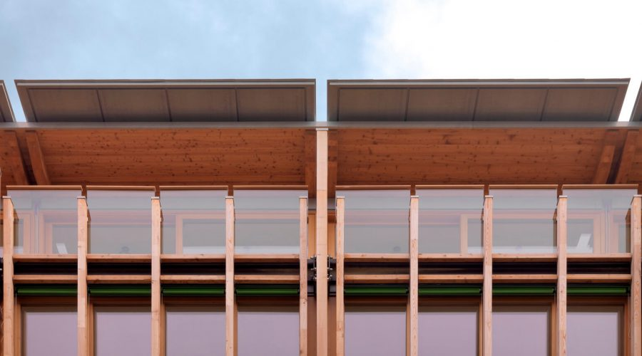 Tetto in legno di larice in Provincia di Trento